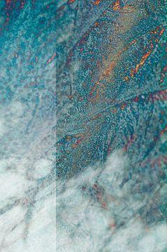 Stone (steen) - Blauw abstract textuur, digitale compositie van John Quendag