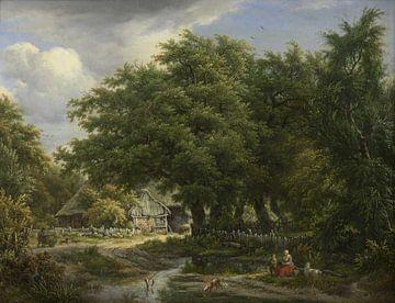 Bauernhaus zwischen Bäumen, Egbert van Drielst