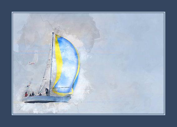 Sailing home (met passe-partout) van Art by Jeronimo