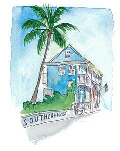 Key West Florida Conch Dream House - Südlichste Straßenszene II von