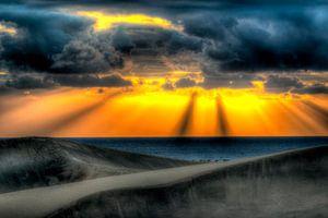 HDR zonsondergang
