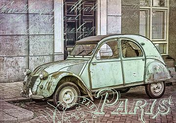 Oldtimer 2CV Citroen in Paris von
