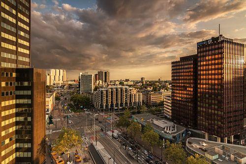Golden hour in Rotterdam van