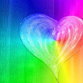 Herz Regenbogen von Katrin Behr