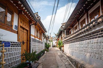 Kleine straatjes in Seoul van Mickéle Godderis