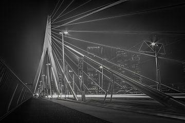 Le pont Erasmus en gris sur Mitch den Exter