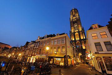 Vismarkt und Servetstraat mit Domturm Utrecht von Donker Utrecht