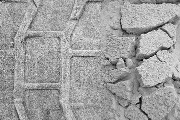 Tweeluik sporen strand Terschelling van