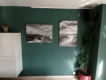 Klantfoto: Voetstappen naar strand van Fotografie Egmond, op canvas