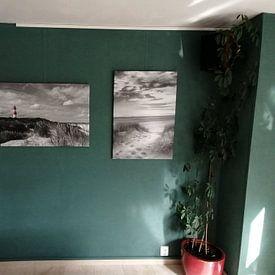 Klantfoto: Vuurtoren in zwart-wit van Christoph Schaible, op canvas