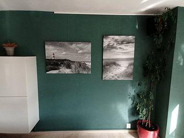 Klantfoto: Vuurtoren in zwart-wit van Christoph Schaible