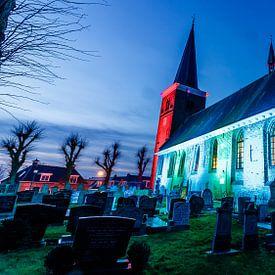 Kerk in mooi licht van Jaap Terpstra