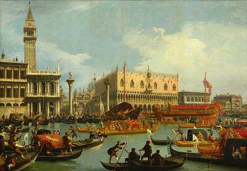 Bucentaur's terugkeer naar de pier bij het Palazzo Ducale, Canaletto van Hollandse Meesters