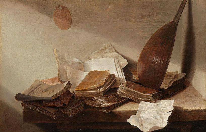 Stillleben mit Büchern, Jan Davidsz. de Heem von Meesterlijcke Meesters