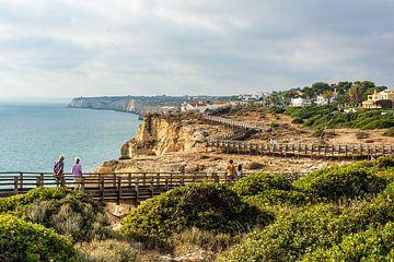 Algar Seco Cliff Walk, Algarve, Portugal. van Patrick Vercauteren