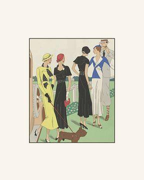Tag beim Rennen | Reitsport, Rennen, Derby | Historischer Art Deco Modedruck | Vintage Mode von NOONY