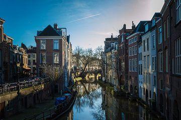 Heerlijk zicht over de Oude Gracht in Utrecht van Patrick Verhoef