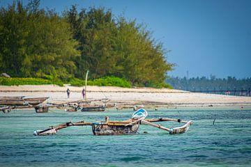 Zanzibar visser op de oceaan van Erwin Floor