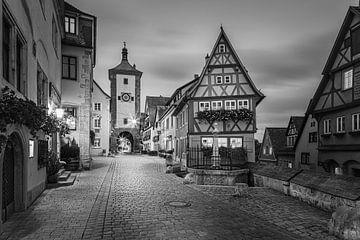 Rothenburg ob der Tauber in zwart-wit van Henk Meijer Photography
