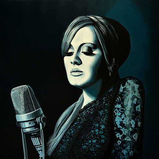 Adele Skyfall schilderij van Paul Meijering