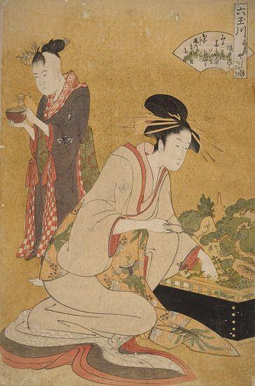 Kitagawa, Utamaro Yashio Japanse prent van Liszt Collection