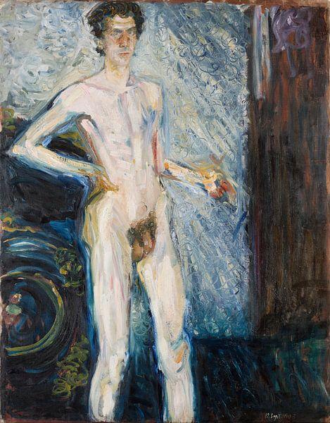 Nude Self-Portrait with Palette, Richard Gerstl von Meesterlijcke Meesters