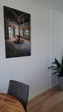 Klantfoto: Verlaten Fontein in Verval. van Roman Robroek, op canvas