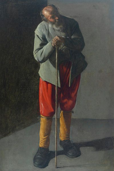 Alter Mann, Georges de La Tour von Meesterlijcke Meesters