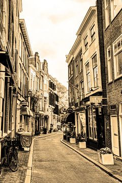 Innere Stadt von Den Haag Niederlande Sepia von Hendrik-Jan Kornelis