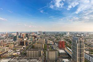 De skyline van Rotterdam vanaf de Delftse Poort