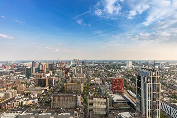 De skyline van Rotterdam vanaf de Delftse Poort van MS Fotografie