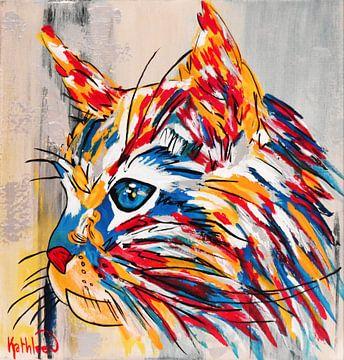 Die Katze von Kathleen Artist Fine Art