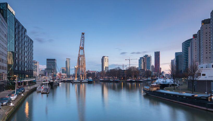 Leuvehaven in Rotterdam van Ilya Korzelius