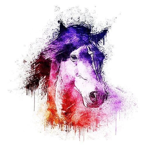 watercolor horse van