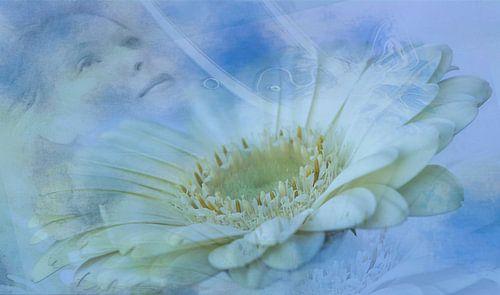 Ontspannen, wellness. Vrouw en bloem