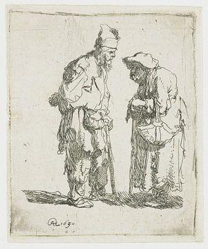 Bettler und Bettler im Gespräch, Rembrandt van Rijn
