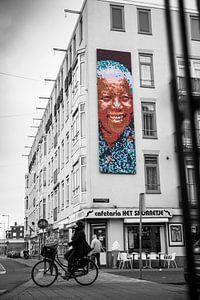 Nelson Mandela Street Art van