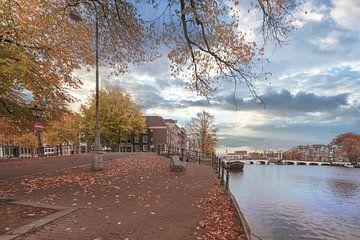 Vue du Pont Maigre à Amsterdam sur Peter Bartelings Photography
