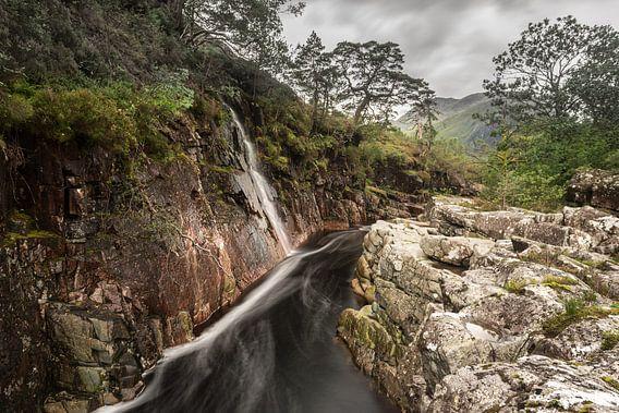 De rivier Etive in West Schotland