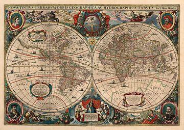 Hondius Weltkarte 1641 von Rebel Ontwerp