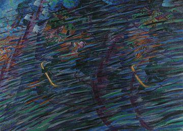 Umberto Boccioni~Der Geisteszustand, die, die gehen