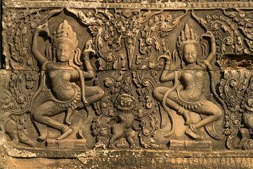 Apsara à Angkor Thom, Cambodge sur Peter Schickert