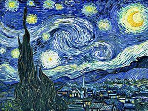 Sterrennacht - Vincent van Gogh digitaal