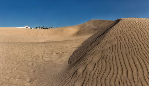 Zandduinen, mini woestijn, Dunas de Maspalomas, Maspalomas, Gran Canaria, Spanje