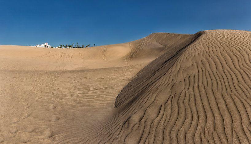 Zandduinen, mini woestijn, Dunas de Maspalomas, Maspalomas, Gran Canaria, Spanje van Rene van der Meer