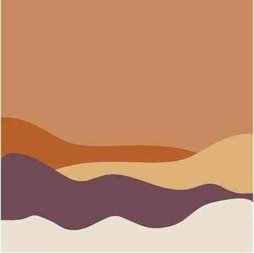 Woestijn heuvels van Anne Dellaert