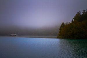 Bootje op de Plitvice meren