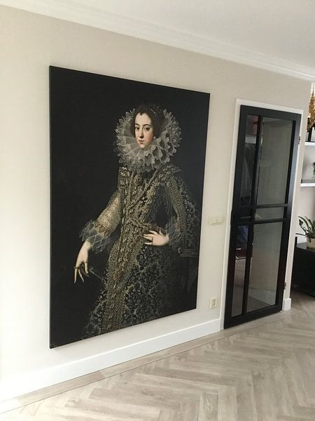 Klantfoto: Koningin Elizabeth van Bourbon van Diverse Meesters, op canvas