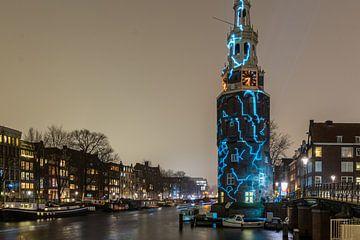 Amsterdamer Turm beleuchtet von Karin Riethoven