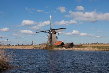 Moulin à paysage néerlandais Kinderdijk sur Leontien Adriaanse